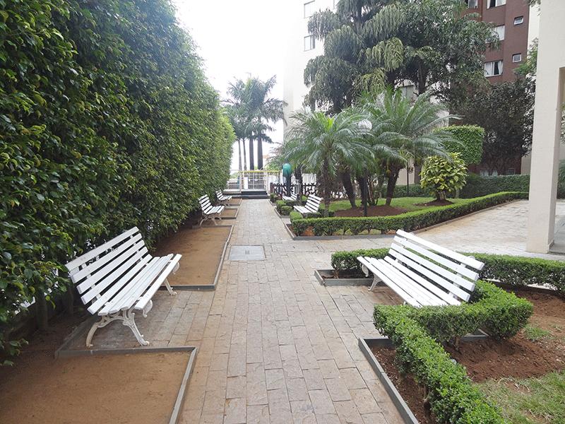 Sacomã, Apartamento Padrão - Áreas ajardinadas com banco