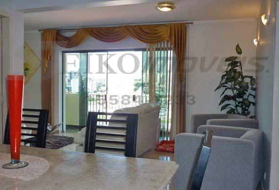 Cursino, Apartamento Padrão - Sala em L com piso de cerâmica