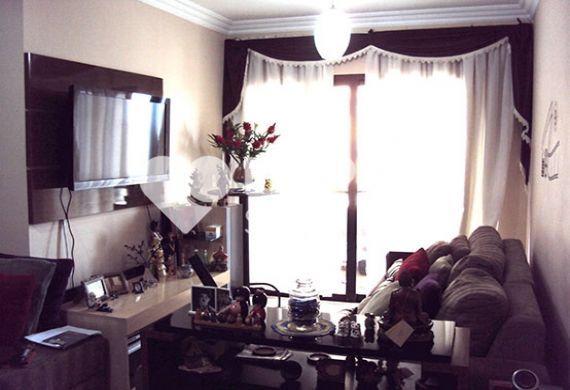Sacomã, Apartamento Padrão-Sala em L com dois ambientes, piso laminado e moldura de gesso