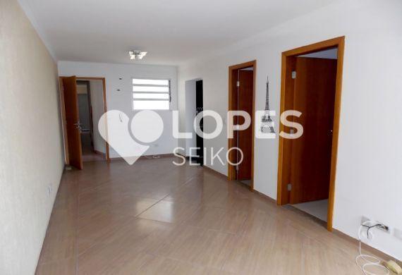 Jabaquara, Apartamento Padrão - Sala retangular com piso de cerâmica
