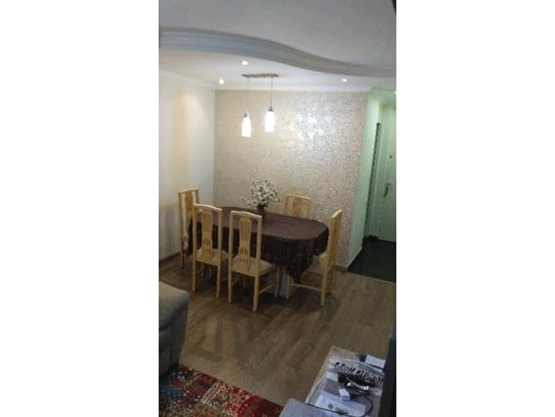Sacomã, Apartamento Padrão - Sala com piso de vinílico, teto com sanca de gesso e iluminação embutida.