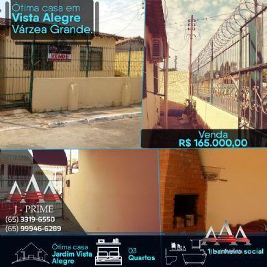 Casa à venda, Jardim Vista Alegre, Várzea Grande