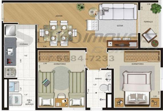 Jabaquara, Apartamento Padrão-Planta 2