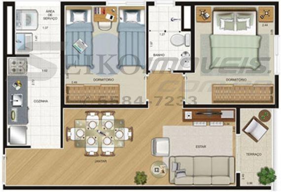 Jabaquara, Apartamento Padrão-Planta 1