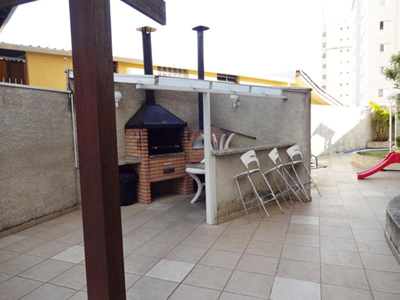 Sacomã, Apartamento Padrão-Churrasqueira com forno de pizza