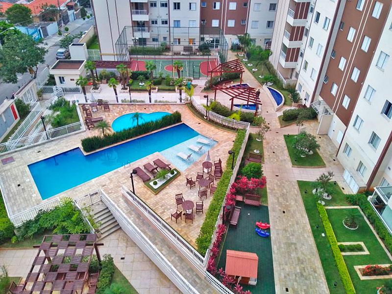 Sacomã, Apartamento Padrão-Vista geral de cima.