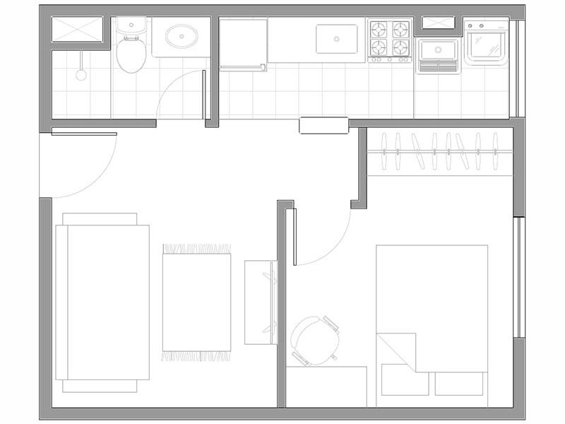 Jabaquara, Apartamento Padrão-Planta.