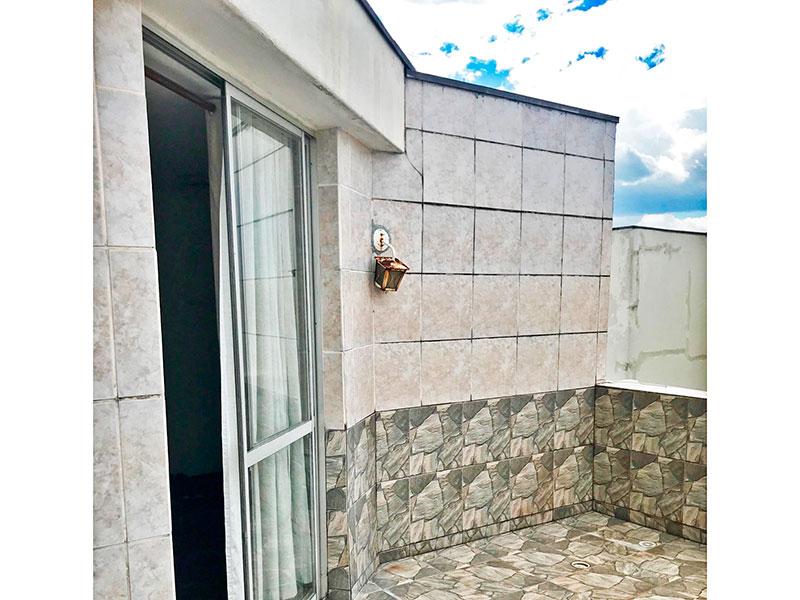 Jabaquara, Cobertura Duplex-Varanda com piso de cerâmica.
