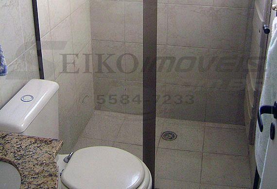 Sacomã, Cobertura Duplex-Banheiro social com box de vidro e gabinete