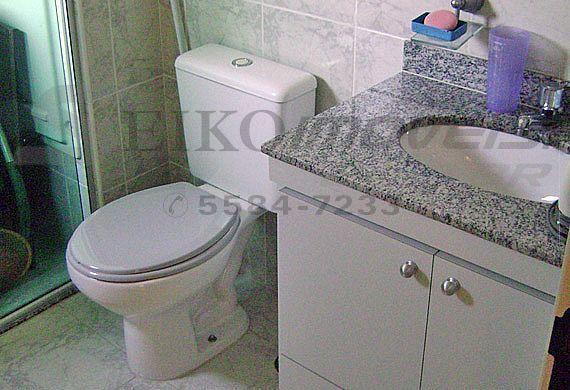 Sacomã, Cobertura Duplex-Banheiro da suíte com box de vidro e gabinete