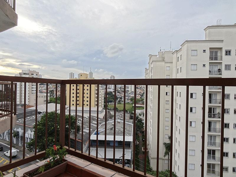 Ipiranga, Apartamento Padrão-Sacada do dormitório com piso de cerâmica.