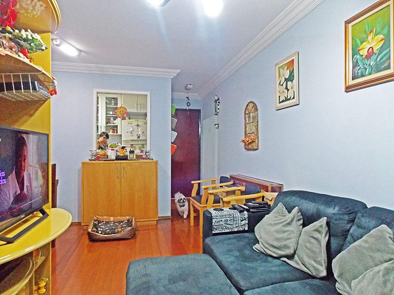 Jabaquara, Apartamento Padrão-Sala em L com piso de tabua corrida, teto com moldura de gesso e acesso a sacada.