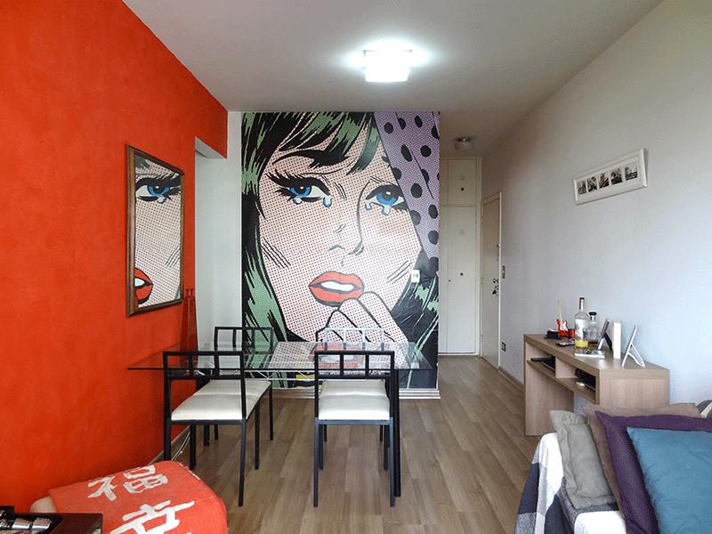 Ipiranga, Apartamento Padrão-Sala com dois ambientes e piso laminado.