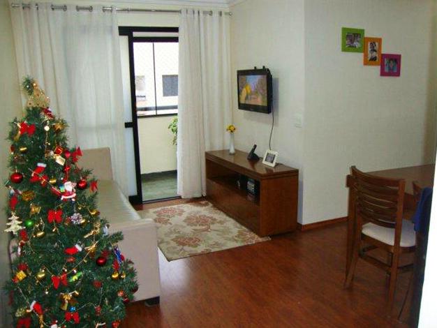 Jabaquara, Apartamento Padrão - Sala em L com dois ambientes, piso laminado, teto com moldura de gesso e acesso à sacada