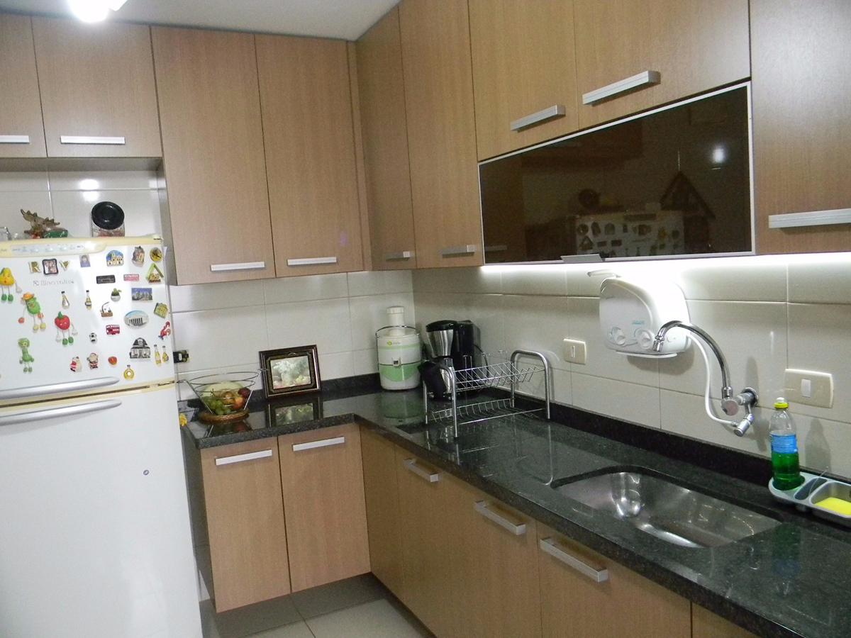 Jabaquara, Apartamento Padrão-Cozinha com piso de cerâmica, armários planejados e pai de granito.