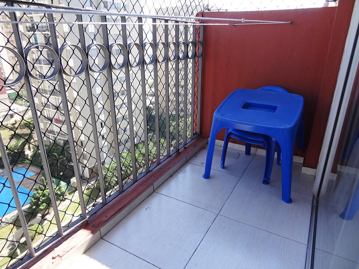 Sacomã, Apartamento Padrão-VARANDA COM PISO DE CERÂMICA E TELA DE PROTEÇÃO