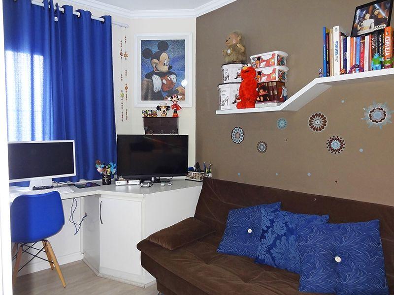 Ipiranga, Cobertura Duplex-Segundo e terceiro dormitório com piso laminado, teto com moldura de gesso e armários planejados.