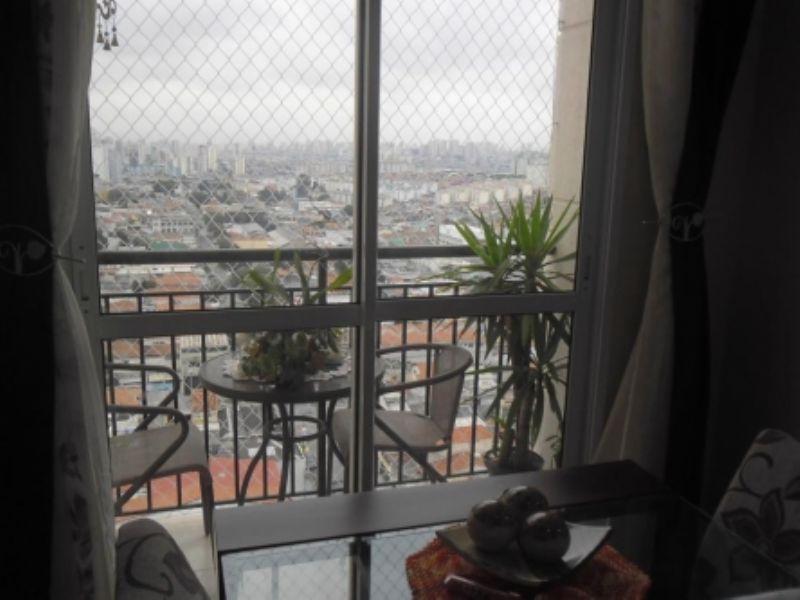 Sacomã, Apartamento Padrão - Sacada com tela de proteção.