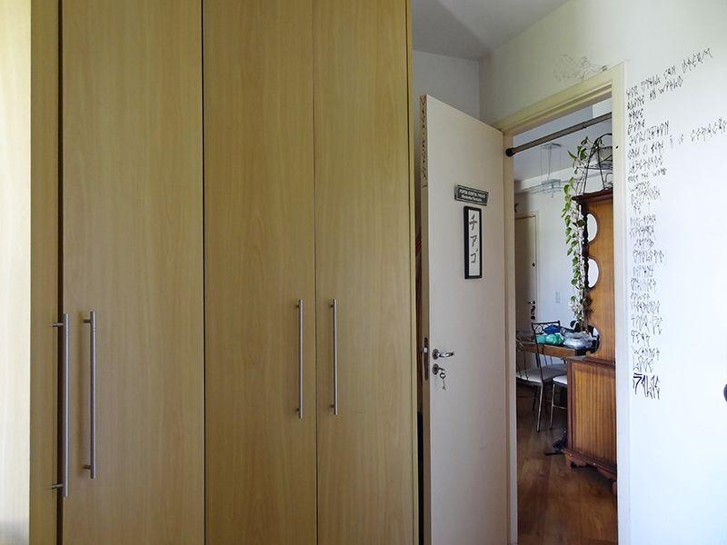 Sacomã, Apartamento Padrão-Dormitórios com piso de madeira e armários planejados.