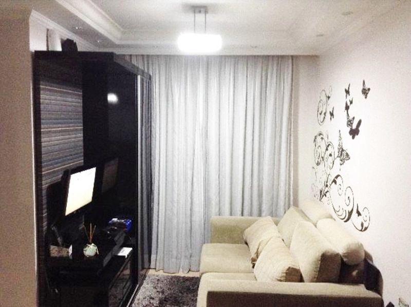 Sacomã, Apartamento Padrão-Sala com piso laminado, teto com sanca de gesso e iluminação embutida.
