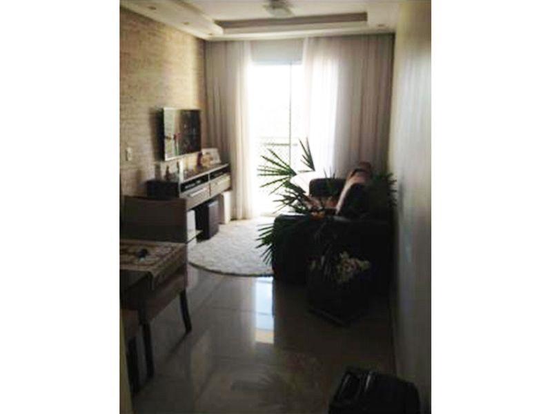 Sacomã, Apartamento Padrão - Sala retangular com dois ambientes, piso de porcelanato, teto com sanca de gesso, iluminação embutida e acesso a varanda.