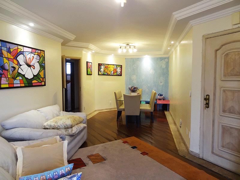 Ipiranga, Apartamento Padrão-Sala em L com dois ambientes,  piso de tabua corrida, teto com sanca de gesso, iluminação embutida e acesso a sacada.