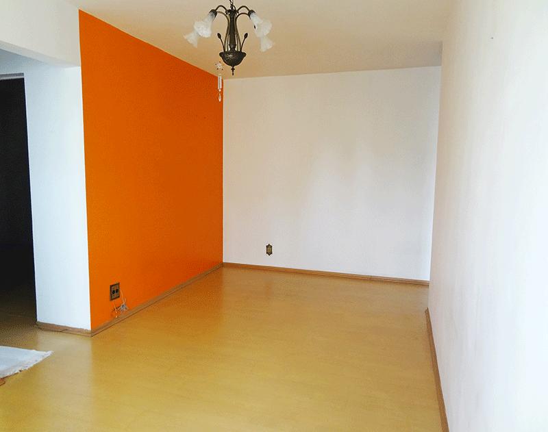 Sacomã, Apartamento Padrão - Sala retangular e com piso laminado.