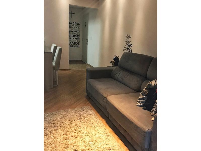 Sacomã, Apartamento Padrão-Sala em L com piso laminado, teto rebaixado com iluminação embutida e acesso para varanda.