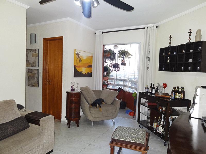 Jabaquara, Apartamento Padrão-Sala oval integrada com a sacada com piso de cerâmico e teto com moldura de gesso.