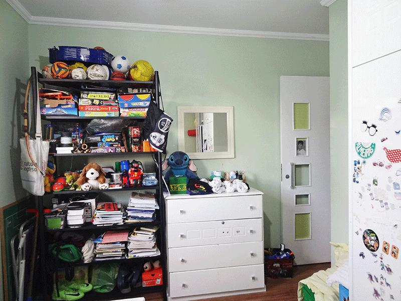 Jabaquara, Apartamento Padrão-2º dormitório com piso laminado e teto com moldura de gesso.