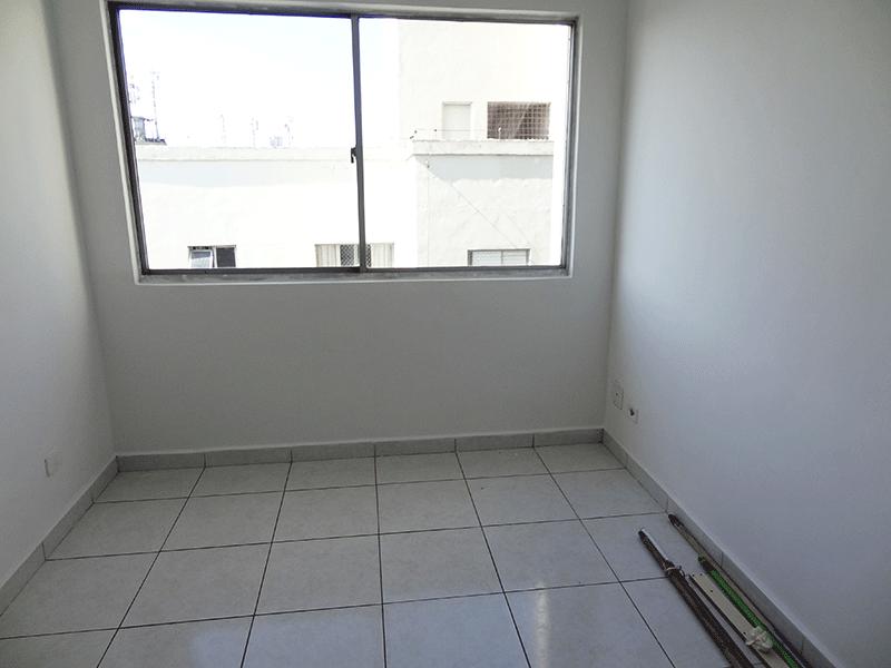 Jabaquara, Apartamento Padrão - Sala retangular com piso de cerâmica.