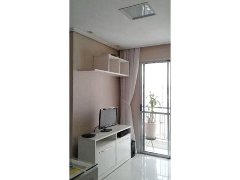 Jabaquara, Apartamento Padrão - Sala com piso de porcelanato, teto rebaixado com iluminação embutida e acesso a Varanda.