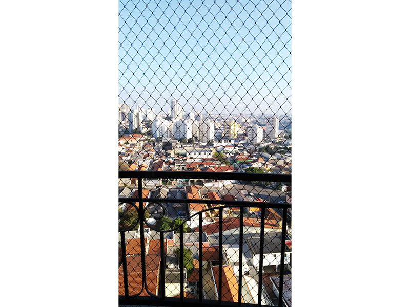 Sacomã, Apartamento Padrão-Varanda com piso de ardósia e tela de proteção.