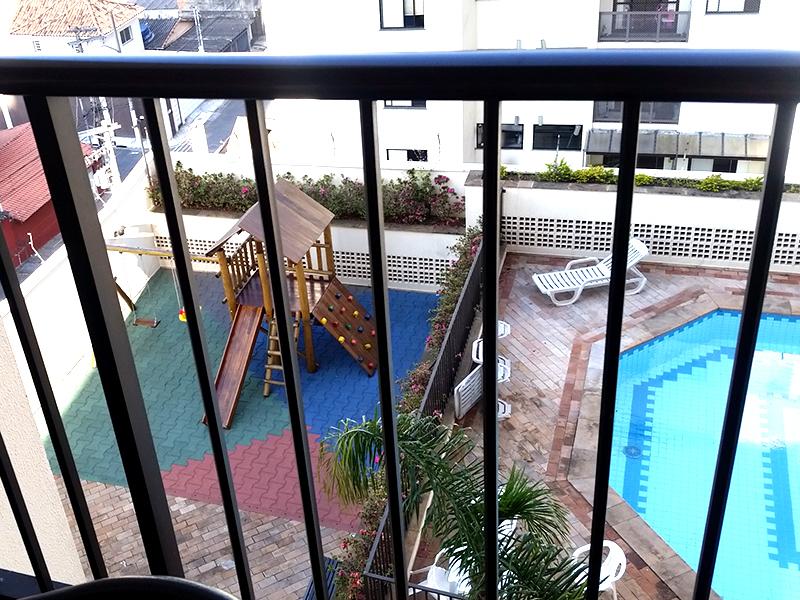 Jabaquara, Apartamento Padrão-Vista da varanda (Playground e piscina)