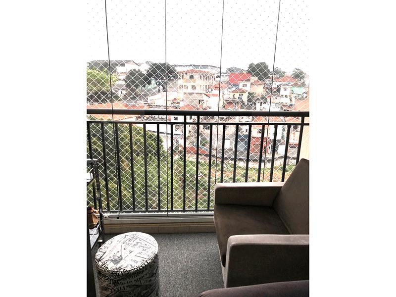 Sacomã, Apartamento Padrão-Varanda envidraçada e tela de proteção.