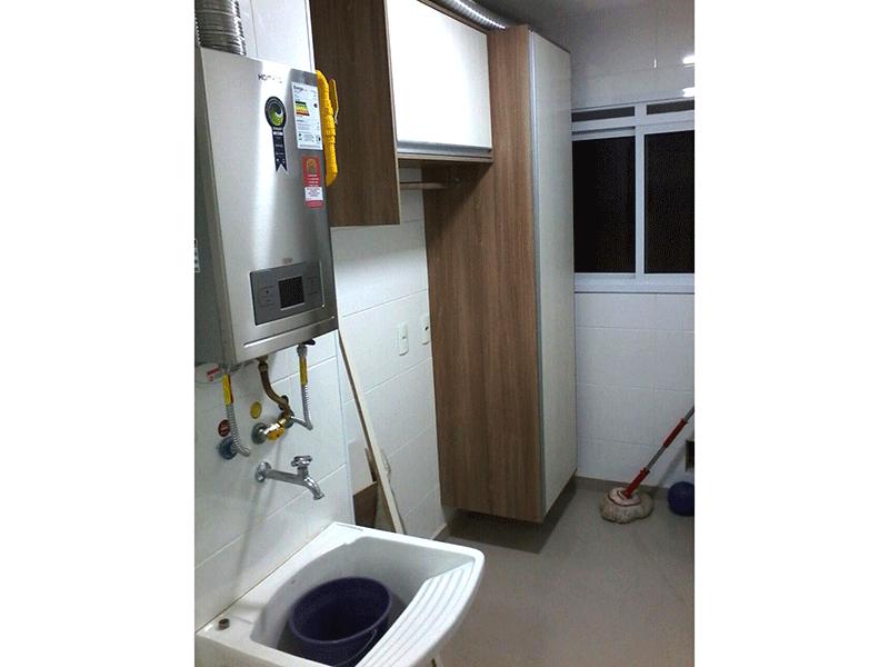 Ipiranga, Apartamento Padrão-Área de serviço com piso de porcelanato, armários planejados e aquecedor de passagem