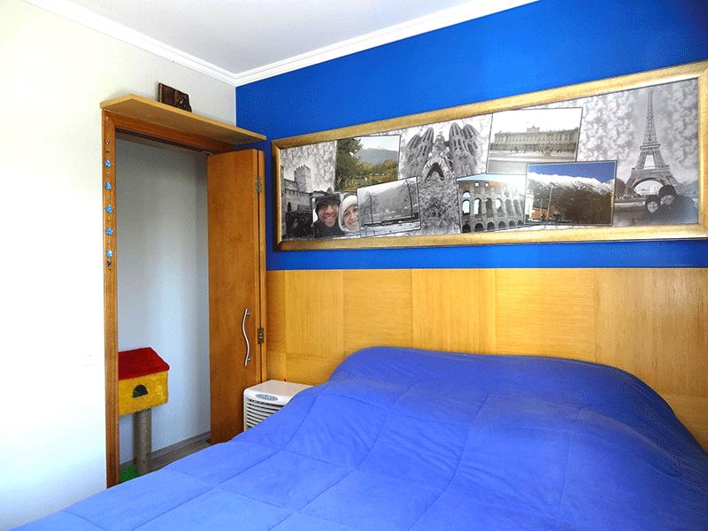 Sacomã, Apartamento Padrão-1º dormitório com piso com piso laminado, armários planejados e teto com moldura de gesso.