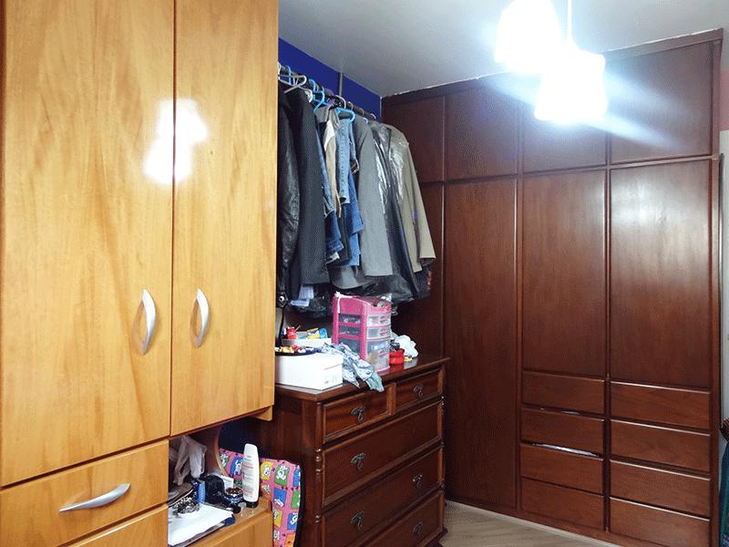 Jabaquara, Apartamento Padrão-Dormitório com piso laminado e armários embutidos.