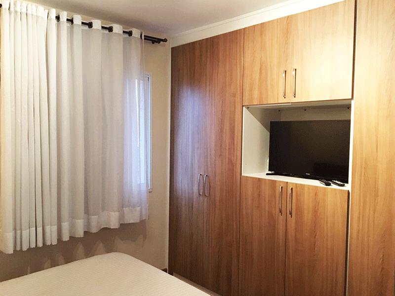 Jabaquara, Apartamento Padrão-Suíte com armários embutidos.