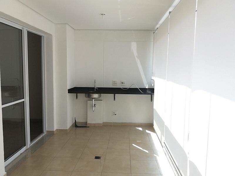 Jabaquara, Apartamento Padrão-Varanda gourmet envidraçada, piso de cerâmica, pia de granito e teto rebaixado.