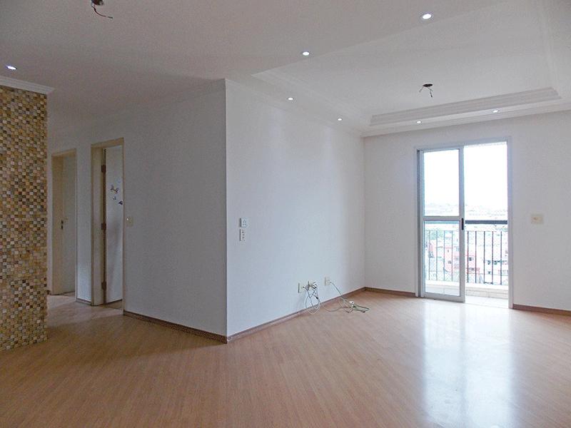 Sacomã, Apartamento Padrão - Sala com dois ambientes, piso laminado, teto com sanca de gesso, iluminação embutida e acesso à sacada.