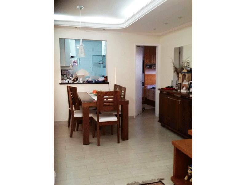Ipiranga, Apartamento Padrão-Sala com dois ambientes, piso laminado, teto com sanca de gesso, iluminação embutida e acesso à varanda.
