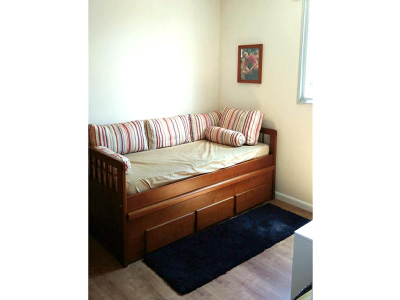 Jabaquara, Apartamento Padrão-2º dormitório com piso laminado e ventilador de teto.