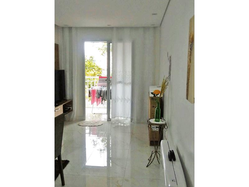 Sacomã, Apartamento Padrão-Sala com piso de porcelanato, espelho, teto rebaixado com iluminação embutida e acesso a varanda.