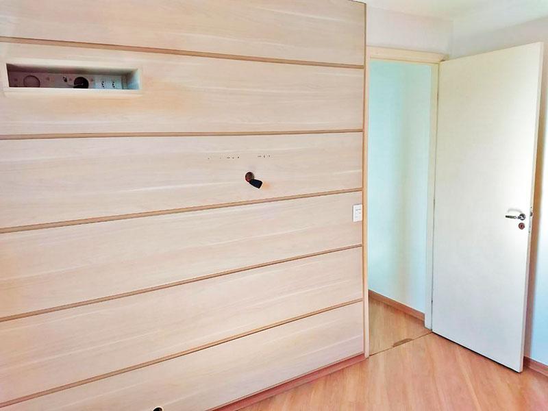 Sacomã, Apartamento Padrão-2º Quarto com piso de laminado e iluminação embutida.
