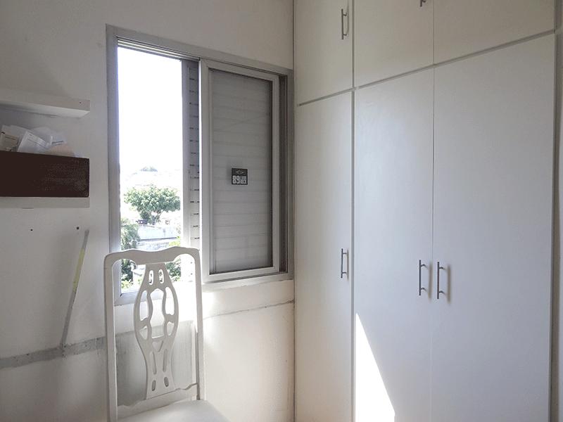 Jabaquara, Apartamento Padrão-3º dormitório com piso laminado e armários planejados (Dep. de empregada transformado em 3º dormitório).