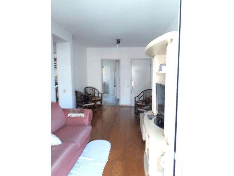 Jabaquara, Apartamento Padrão - Sala com dois ambientes e piso de madeira.