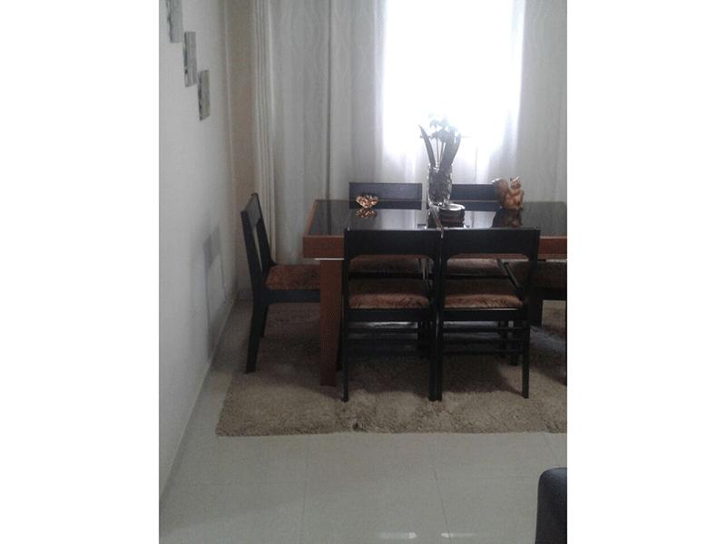 Ipiranga, Apartamento Padrão - Sala com dois ambientes e piso de porcelanato.