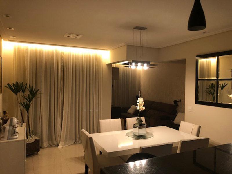 Ipiranga, Apartamento Padrão - Sala ampliada com dois ambientes, piso de porcelanato, teto rebaixado e iluminação embutida (3º transformado em sala ampliada).