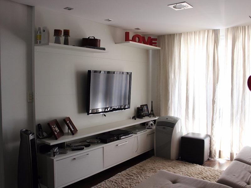 Jabaquara, Apartamento Padrão - Sala com dois ambientes, piso laminado e teto rebaixado.